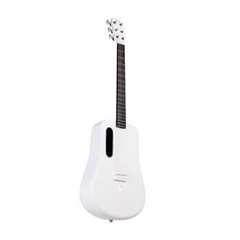 火ギター(LAVGUITAR)LAVA MEギター全シングルのアコースティックスティッチを持つギターの炭素繊維LAVA ME 2の白い原音