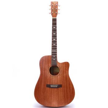 闘牛士(Bullifighter)の闘牛士のシングルボード民謡木ギター40寸41型の電気ボックスの表面に角木吉が欠けています。D-4121充電ケースです。