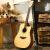 アンドリュー(ANDREW)アコスティックス41インチギター初心者入門男女通用gitar 41インチクリエーティブ+ビッグバッグ